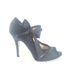 Betsey Johnson High Heels Peep Toe Pumps 7.5